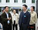 2007年4月3日,中共四川省卫生厅党组织书记,厅长沈骥(左一)来我院调研。