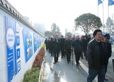 广汉市老干部到新建广汉市人民医院项目工地参观考察
