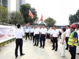 中江县党政代表团调研广汉市人民医院新建项目施工现场